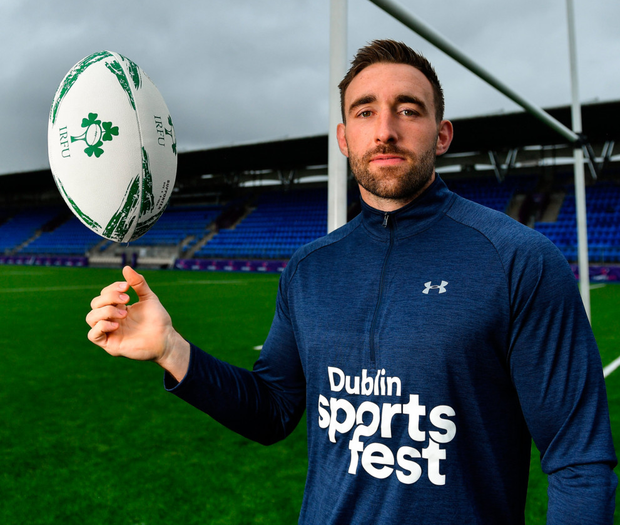 Jack Conan in Energia Park for the launch of the #ThisIsMyDublin campaign promoting Dublin City Sportsfest 2019
