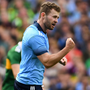 Jack McCaffrey of Dublin celebrates a point during the 2019 All-Ireland SFC Final against Kerry at Croke Park