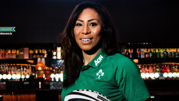 Sene Naoupu teamed up with Guinness to rally support for Ireland's women's team ahead of the upcoming Six Nations Championship