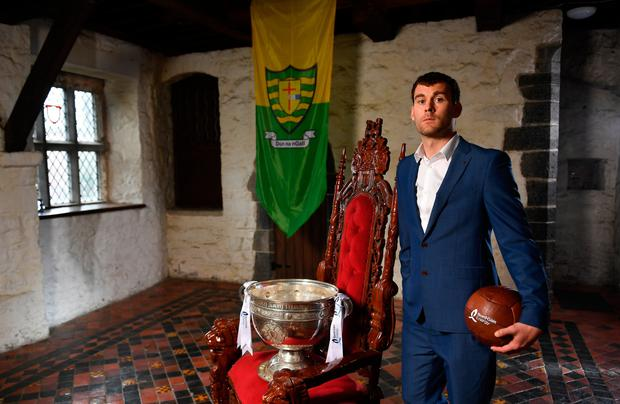 Eamon McGee at Drimnagh Castle for the launch of this year's Bord Gáis Energy GAA Legends Tour Series at Croke Park