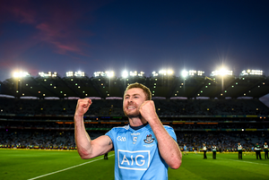 FAMOUS FIVE: Jack McCaffrey celebrates after Dublin's win over Kerry in the All-Ireland SFC Final Replay at Croke Park last September. Pic: Sportsfile
