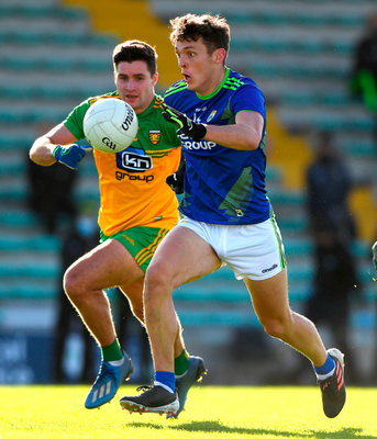 David Clifford of Kerry in action against Brendan McCole of Donegal during the Allianz Football League match at Austin Stack Park last weekend