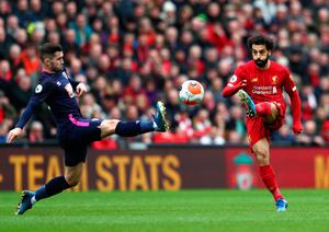 CLASS APART: Mohamed Salah has been a standout performer for Liverpool