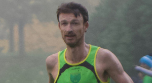 Eoin Flynn of Rathfarnham WSAF AC won the Leinster Masters Cross-Country Championships at Gowran