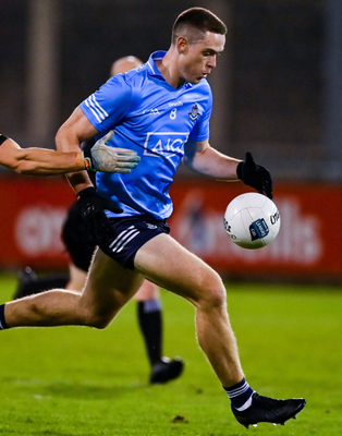 Brian Fenton in action against Meath during the Allianz Football League match at Parnell Park