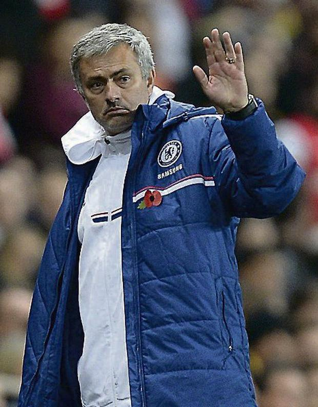 Chelsea manager Jose Mourinho. Photo: Andrew Matthews/PA Wire.
