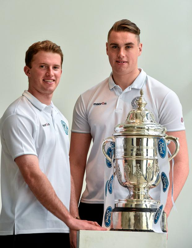 Pictured ahead of the 2014 FAI Cup Semi-Final fixtures are Conor Winn, right, and Pat McCann, Finn Harps.
