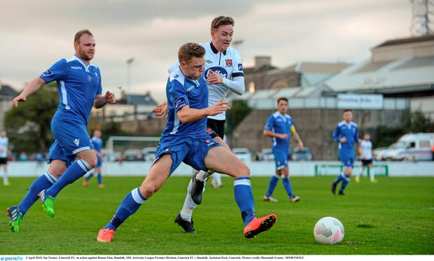 Ronan Finn in action against Limerick's Ian Turner