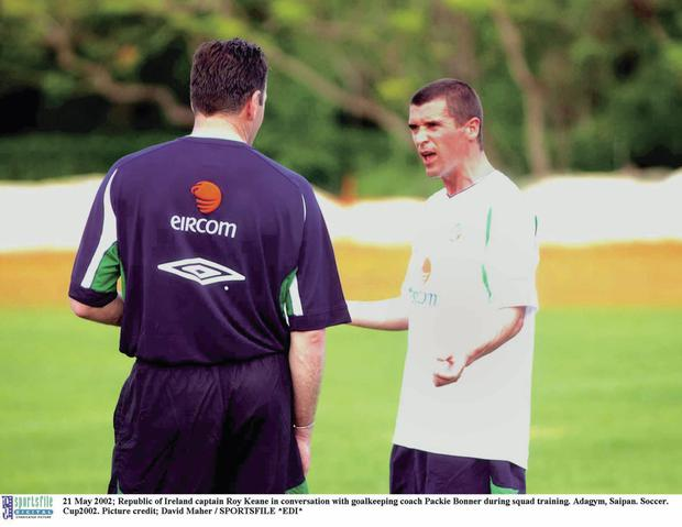 Roy Keane in Saipan back in 2002