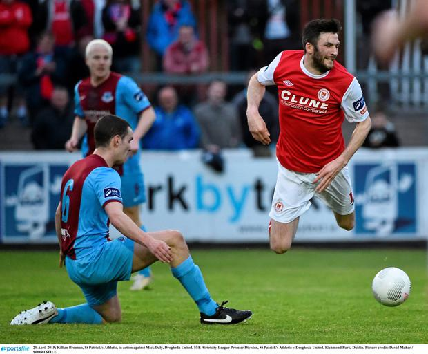Killian Brennan in action against Drogheda