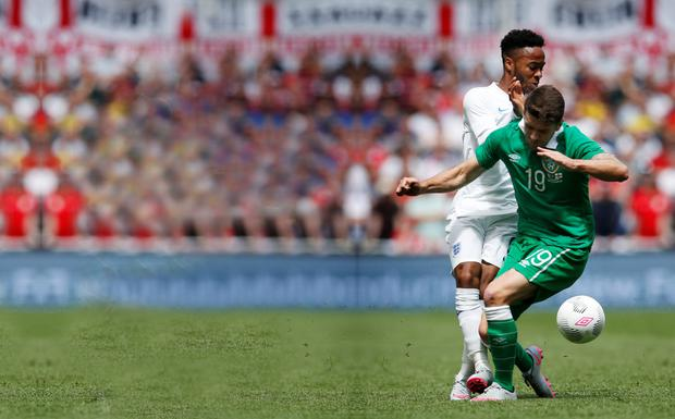 Raheem Sterling and Robbie Brady