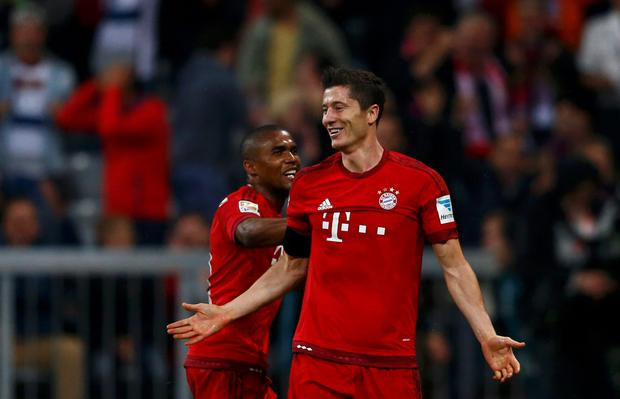 While recent injury concern Robert Lewandowski eased fears about his fitness by coming off the bench to score a stunning five goals in nine minutes for Bayern Munich in a league game against Wolfsburg last night