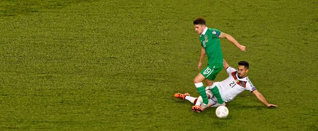 Robbie Brady, Republic of Ireland, in action
