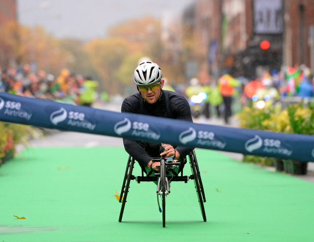 Wheelchair athlete Patrick Monahan