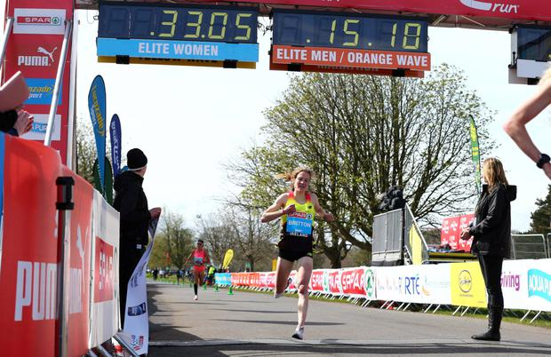 Fionnuala McCormack (née Britton), pictured during the SPAR Great Ireland Run, will compete in Sunday's crosscountry event after running in the Chicago Marathon