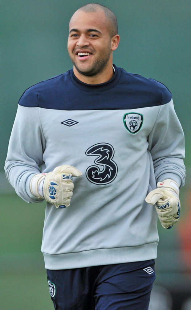 Randolph in training for Ireland Photo: Sportsfile