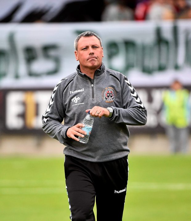 Bohemians manager Keith Long is seeking an improvement from his side ahead of the start of the new League of Ireland season Photo: Sportsfile