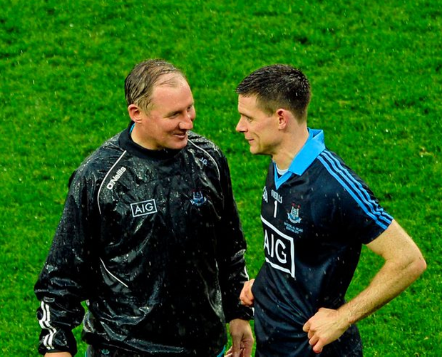 Dublin manager Jim Gavin and captain Stephen Cluxton Photo: Sportsfile