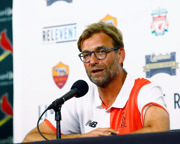 Jurgen Klopp. Photo: PA
