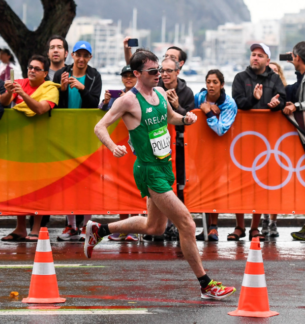 Paul Pollock ran his second fastest marathon time in Rio as he finished a very respectable 32nd. Photo: Sportsfile