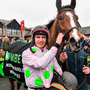 Jockey Paul Townend after winning the Morgiana hurdle on Faugheen at Punchestown yesterday. Photo: Sportsfile