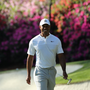 Tiger Woods of the U.S. walks onto the 13th green during the second day of practice for the 2018 Masters golf tournament at Augusta National Golf Club