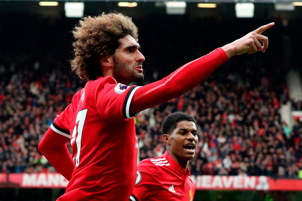 Hopeful: Manchester United's Marouane Fellaini