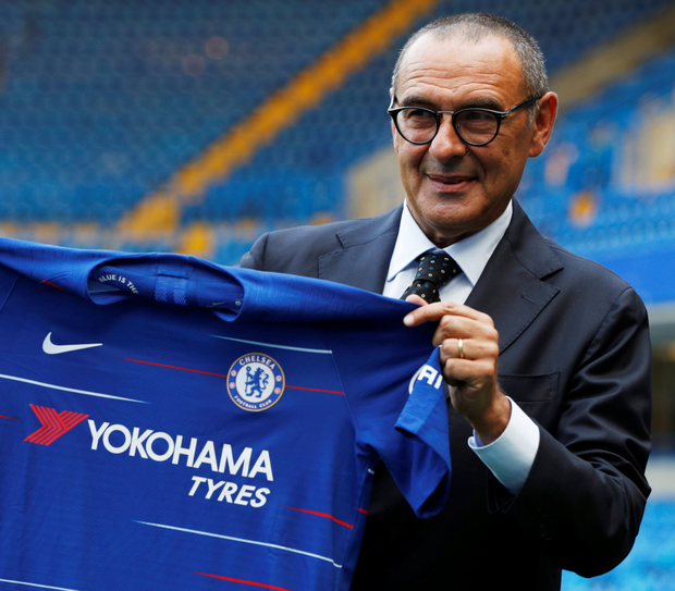 Giving nothing away: Chelsea manager Maurizio Sarri