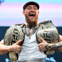 Conor McGregor after the UFC 229 press conference at the Park Theater, Las Vegas
