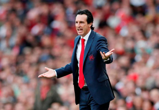 CALL FOR CALM Arsenal coach Unai Emery