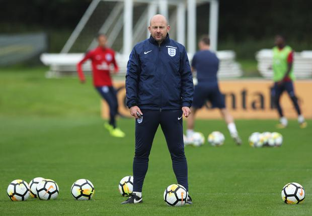 IRISH CHANCE: Lee Carsley, pictured in his role as a coach for the England U21s. Photo: Getty Images