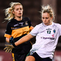 Fiona Claffey of Foxrock-Cabinteely scores her side's goal during the All-Ireland Ladies Senior Club Football Final against Mourneabbey, at Parnell Park