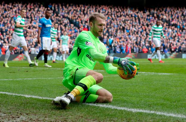 Scott Bain in action for Celtic