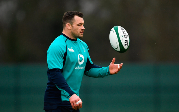 DYNAMIC: Irish prop Cian Healy at training during the week. Pic: Sportsfile
