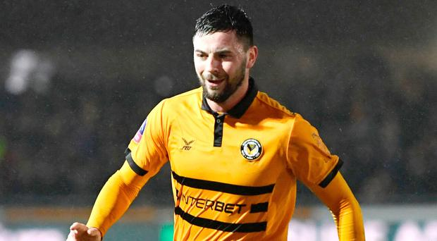 Carlow's Padraig Amond has been in goalscoring form for Newport County