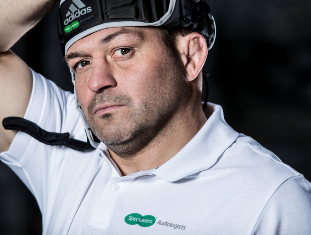 Rory Best at the launch of Specsavers Audiologists' 'Don't Suffer in Silence' campaign, that encourages Irish adults to take a more proactive approach to their hearing health