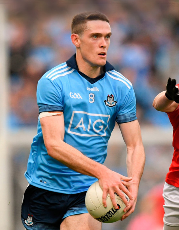 Brian Fenton was in imperious form for the Dubs against Louth. Pic: Sportsfile