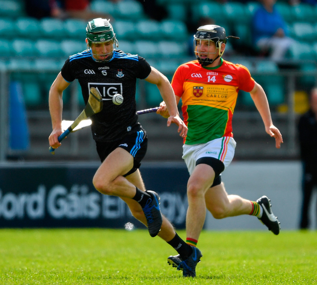 Chris Crummey of Dublin in action against Carlow during the Leinster SHC match at Netwatch Cullen Park