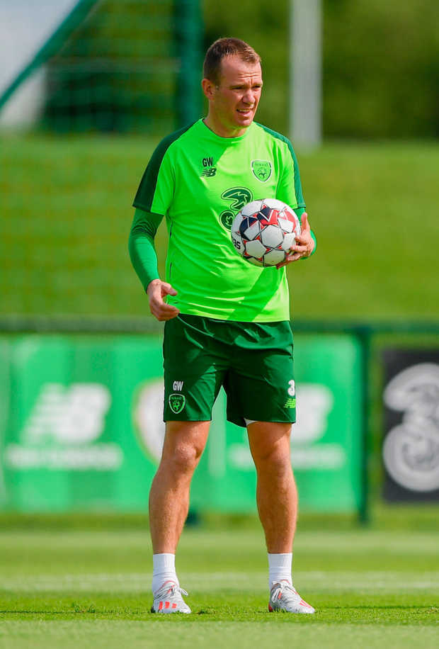 Glenn Whelan during a Republic of Ireland Training Session at the FAI National Training Centre in Abbotstown