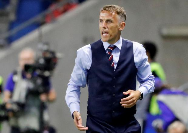 WINNING MENTALITY: England coach Phil Neville. Pic: Reuters
