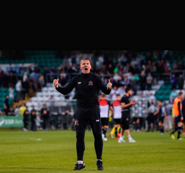 DISAPPOINTED: Dundalk head coach Vinny Perth. Pic: Sportsfile