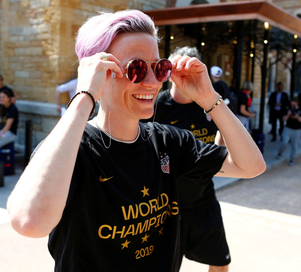 High praise: United States star Megan Rapinoe