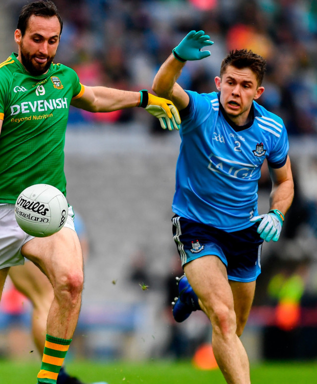 BATTLE: David Byrne in action for Dublin against Meath in the Leinster SFC Final. Pic: Sportsfile