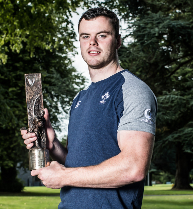 James Ryan with his Rugby Writers' Player of the Year award