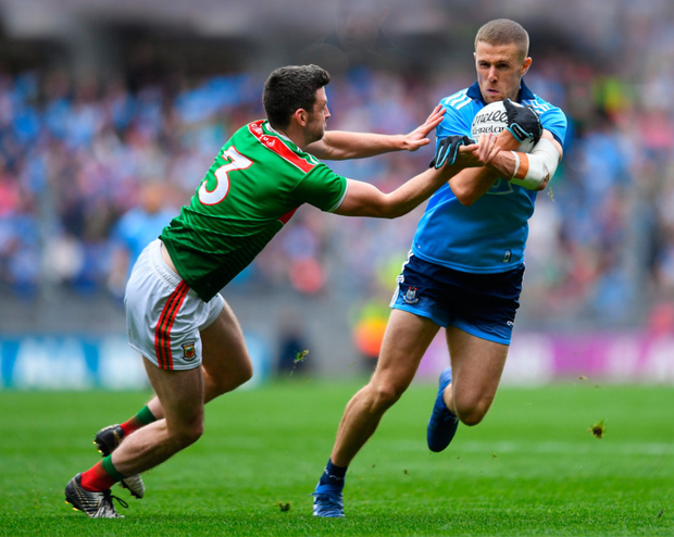 Paul Mannion in action for Dublin against Mayo during the All-Ireland SFC semi-final at Croke Park