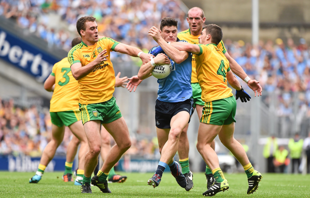 NO WAY PAST: Diarmuid Connolly of Dublin in action against Donegal during the 2014 All-Ireland SFC semi-final, the last time Jim Gavin lost a championship match. Pic: Sportsfile