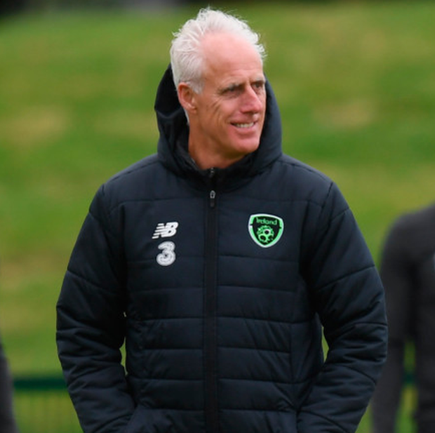 Republic of Ireland manager Mick McCarthy during a training session at the FAI National Training Centre in Abbotstown