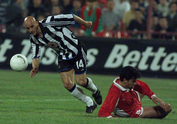 GLORY DAYS: Temuri Ketsbaia in action for Newcastle United.