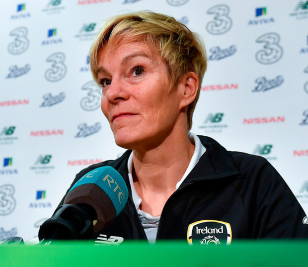 Manager Vera Pauw during the Republic of Ireland WNT squad announcement at FAI Headquarters in Abbotstown