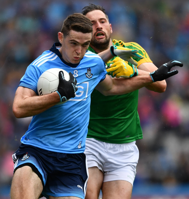 Brian Fenton of Dublin in action against Michael Newman of Meath during the Leinster SFC Final at Croke Park last June